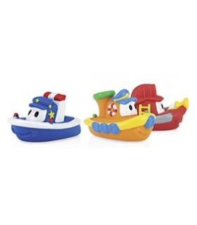 Nuby - Flota de barcute moi pentru baie 6+