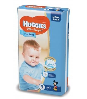 HUGGIES ULTRA CONFORT BOY 4 (66) 8-14KG