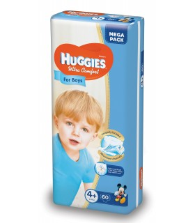 HUGGIES ULTRA  CONFORT BOY 4+ (60) 10-16KG