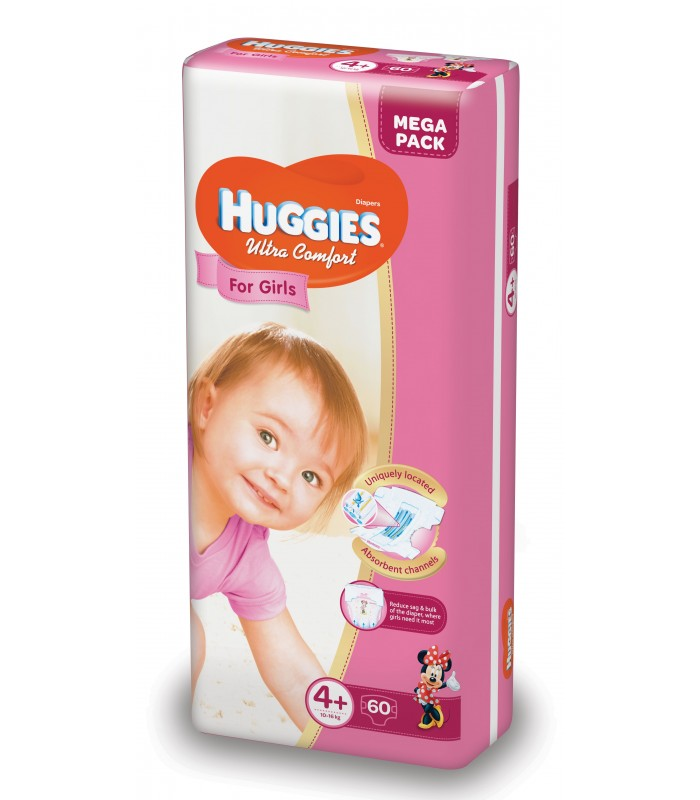 HUGGIES ULTRA CONFORT GIRL 4+ (60) 10-16KG