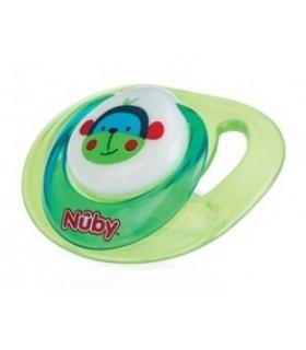 Nuby-Suzeta ortodontica din silicon cu inel si capac igienic