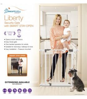 Dreambaby Liberty - Poarta de siguranta metalica alba