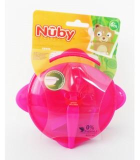 Nuby - bol cu ventuza si capac + lingurita