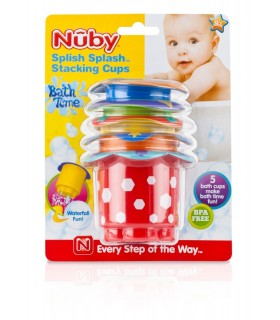 Nuby - Set 5 cupe colorate stivuite 9+