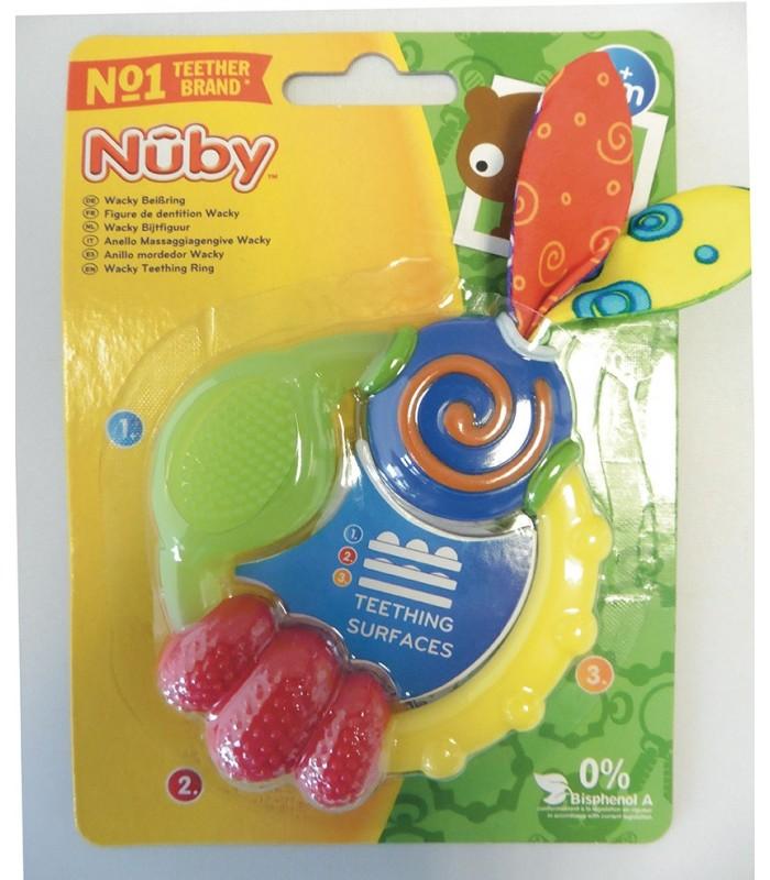 Nuby Inel gingival Wacky 3+