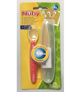 Nuby Lingurita din silicon moale 3+