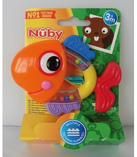 Nuby Rattle Pals Inel gingival 3+