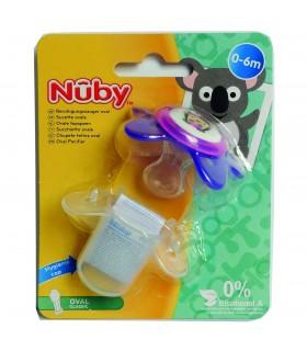 Nuby-suzeta cu capac de protectie 0-6luni