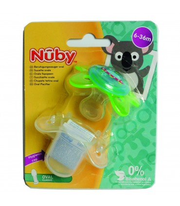 Nuby-suzeta cu capac de protectie 6-36luni