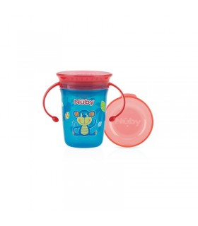 Nuby Wonder Cup 360 decorat cu manere 240ml +6