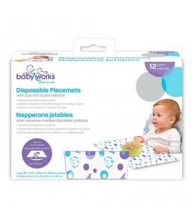 Baby Works™ - Suport de masa de unica folosinta, 12buc.