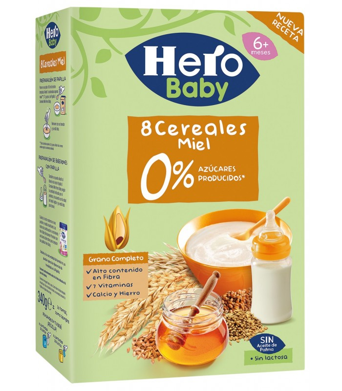 Hero Baby 8 cereale cu miere, 6+