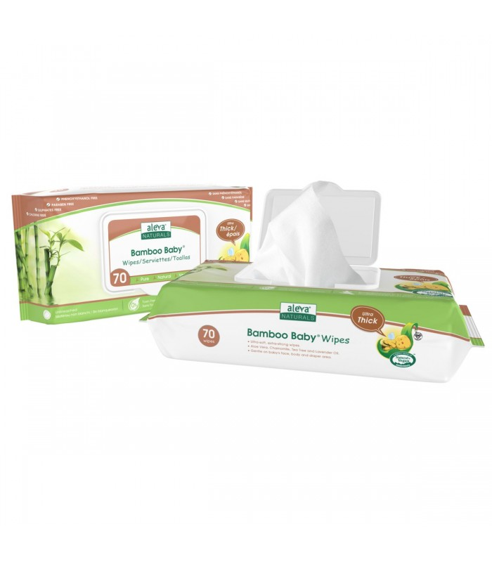 Aleva Naturals Bamboo Baby Thick Wipes