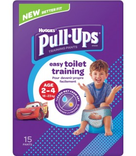 HUGGIES PULL-UPS - CHILOTEI TRANZITIE BAIETI 2-4 ANI (18-23KG)
