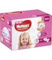 Huggies - Scutece pentru fetite, ultra confort, Nr.5 (12-22kg), 84 buc.