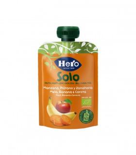 HERO SOLO - GUSTARE ECOLOGICA (BIO) MAR, BANANA SI MORCOV, 100G, 4+