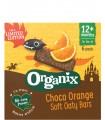Organix - Batoane ecologice (BIO) din ovaz integral cu cacao si portocala, 12+